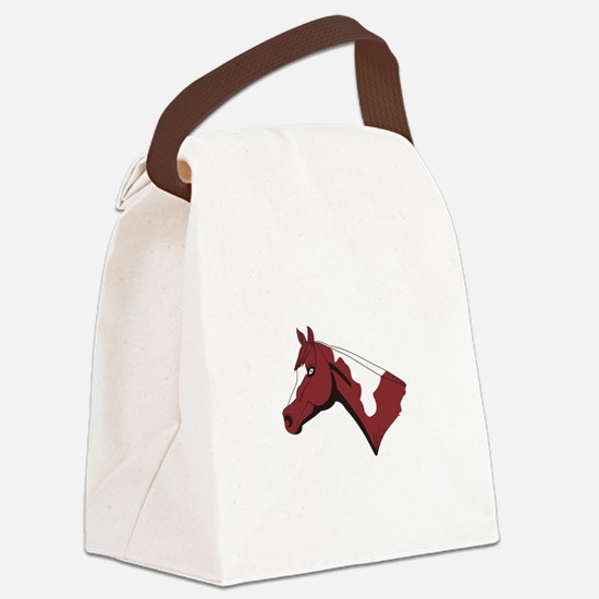Paint Head Canvas Lunch Bag