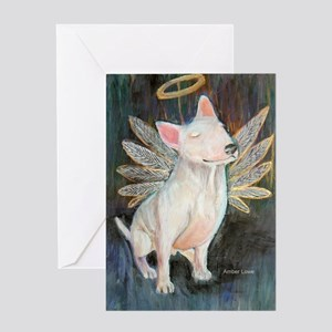 """Angel"" a Bull Terrier Greeting Cards (Package of"