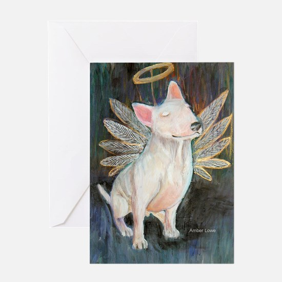 """""""Angel"""" a Bull Terrier Greeting Cards (Package of"""