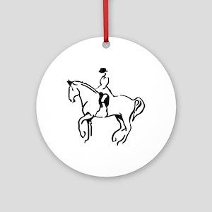 Equestrian Ornament (Round)
