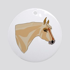 Palomino Head Ornament (Round)