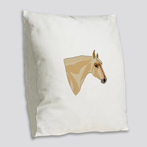 Palomino Head Burlap Throw Pillow