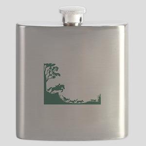 Fox Hunting Silhouette Flask
