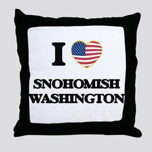 I love Snohomish Washington Throw Pillow