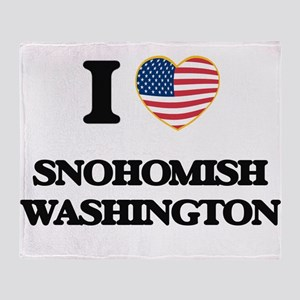 I love Snohomish Washington Throw Blanket