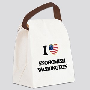 I love Snohomish Washington Canvas Lunch Bag