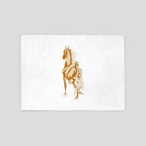 Horse Silhouette 5'x7'Area Rug