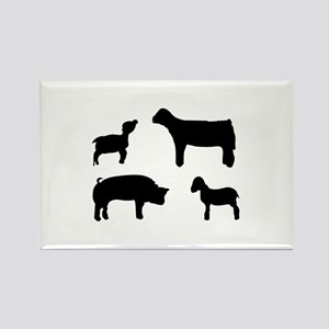 Farm Animals Silhouette Magnets
