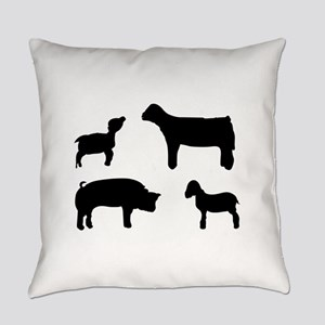 Farm Animals Silhouette Everyday Pillow