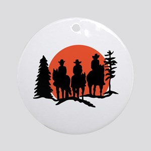 Riders Silhouette Ornament (Round)