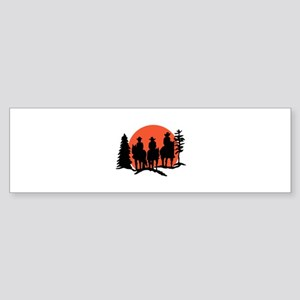 Riders Silhouette Bumper Sticker