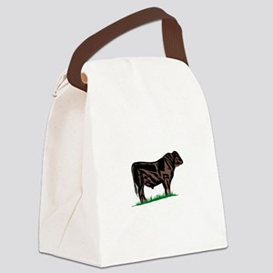 Black Angus Steer Canvas Lunch Bag