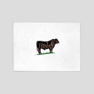 Black Angus Steer 5'x7'Area Rug