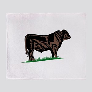 Black Angus Steer Throw Blanket