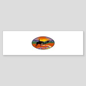 Western Scene Bumper Sticker