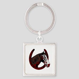 Horse with horseshoe Keychains
