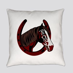 Horse with horseshoe Everyday Pillow