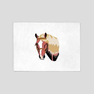 Haflinger Horse 5'x7'Area Rug