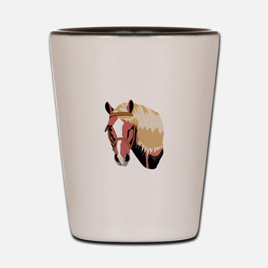 Haflinger Horse Shot Glass