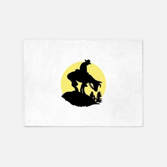 Rider Silhouette 5'x7'Area Rug