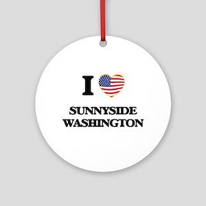 I love Sunnyside Washington Ornament (Round)