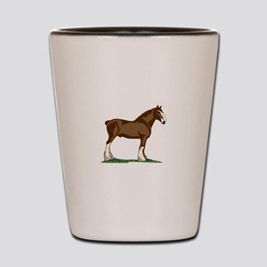 Clydesdale Horse Shot Glass