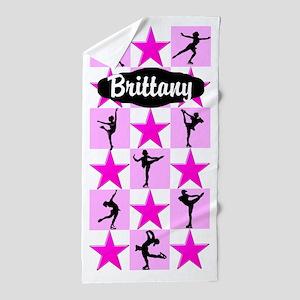 Pink Skater Girl Beach Towel