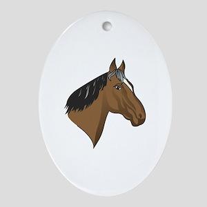 Standardbred Head Ornament (Oval)