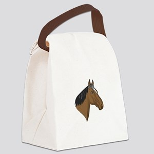 Standardbred Head Canvas Lunch Bag