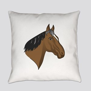 Standardbred Head Everyday Pillow