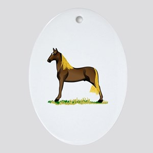 Tennessee Walking Horse Ornament (Oval)