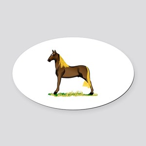 Tennessee Walking Horse Oval Car Magnet