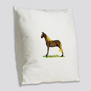 Tennessee Walking Horse Burlap Throw Pillow
