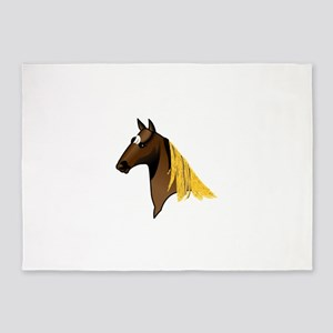 Tennessee Walking Horse Head 5'x7'Area Rug