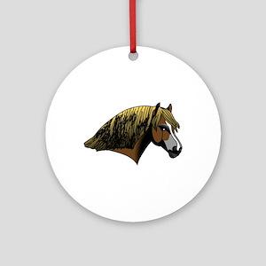 Welsh Pony #2 Head Ornament (Round)
