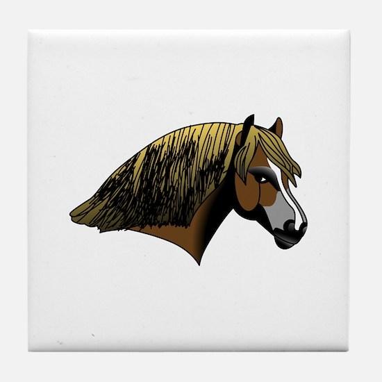 Welsh Pony #2 Head Tile Coaster