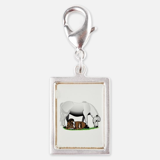 Miniature Pony Mom and Baby Charms