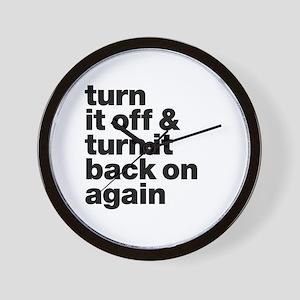 Turn it off & turn it back on again - d Wall Clock