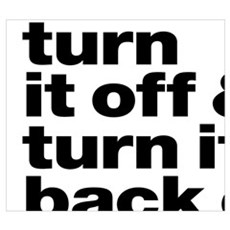 Turn it off & turn it back on again - dark Framed Print
