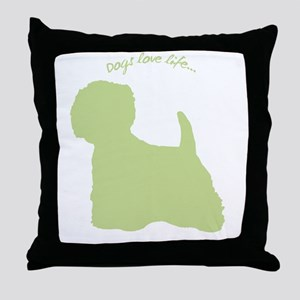 Dogs Love Life! Throw Pillow