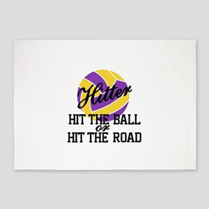 Hit The Ball Or Hit The Road 5'x7'Area Rug