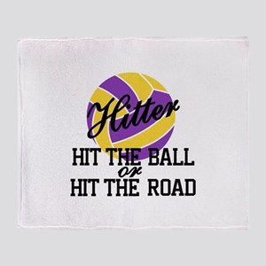 Hit The Ball Or Hit The Road Throw Blanket