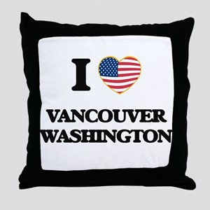 I love Vancouver Washington Throw Pillow