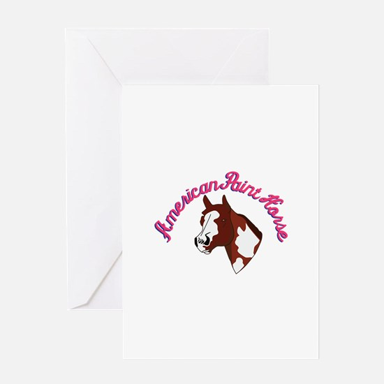 American Paint Horse Greeting Cards