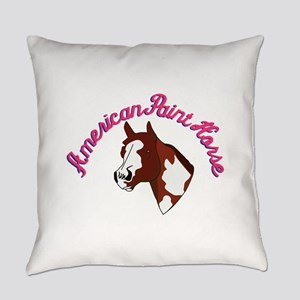 American Paint Horse Everyday Pillow