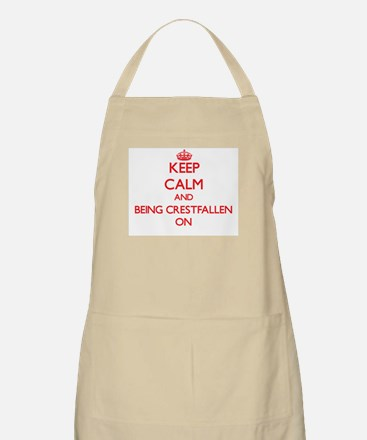 Keep Calm and Being Crestfallen ON Apron