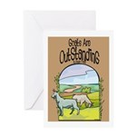 Goat-Outstanding Greeting Card