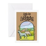 Goat-Outstanding Greeting Cards (Pk of 20)