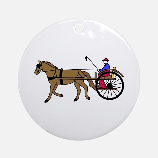 Horse and Buggy Ornament (Round)
