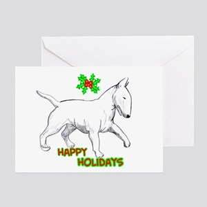 bull terrier Greeting Cards